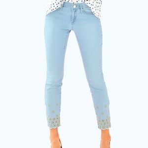NWOT Lilly Pulitzer south ocean skinny crop jeans